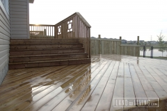 Brown pressure treated deck 1