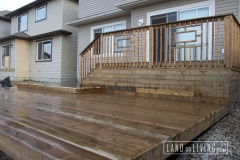 Brown pressure treated deck 2