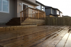 Brown pressure treated deck