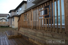 Custom pressure treated railings