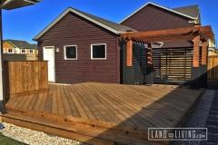 Edmonton Decks Brown Pressure treated wood deck