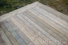 Green pressure treated deck