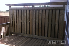 Pressure treated privacy screen