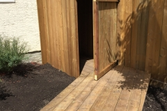 Pressure treated shed