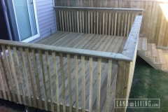 Simple pressure treated deck