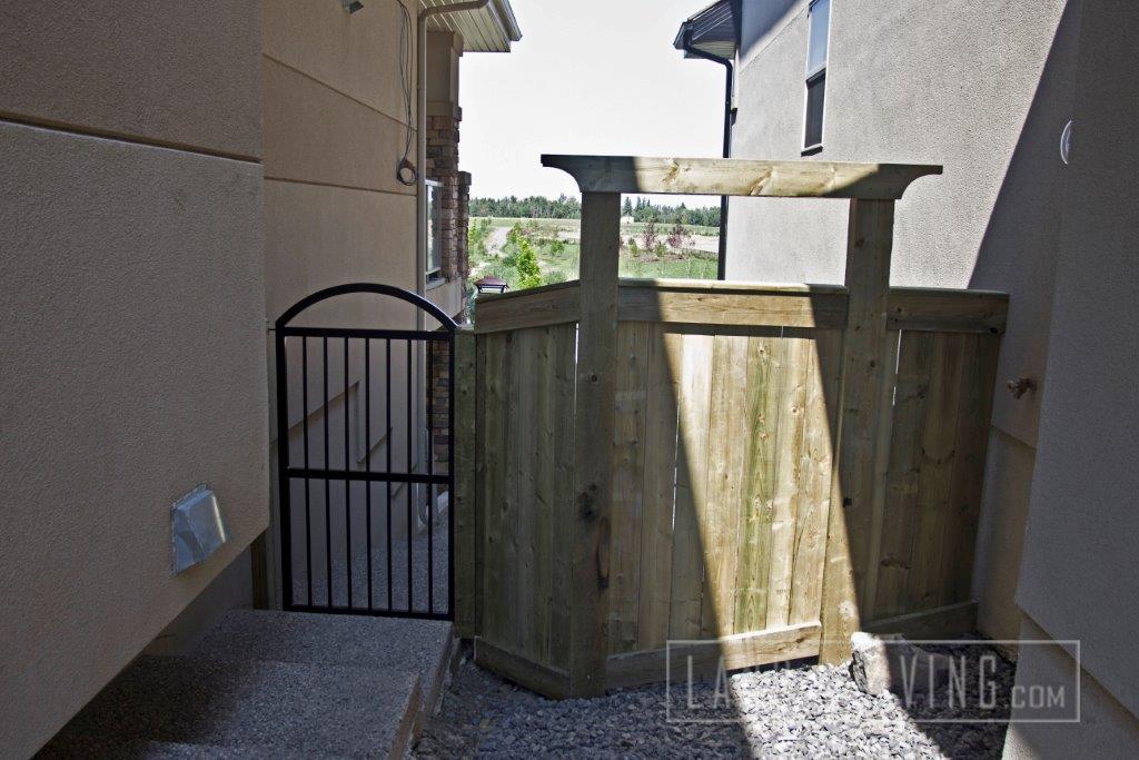 Aluminum and Wood fence gate & Fence \u2013 Landco Living