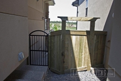 Aluminum and Wood fence gate