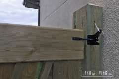 Edmonton Fence Black gate latch