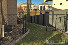 Edmonton Fence Double chain link gate 2