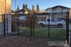 Edmonton Fence Double chain link gate