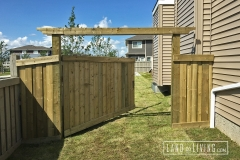 Edmonton Fence Extra large fence gate with header