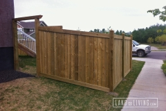 Edmonton Fence Green pressure treated wood 3a