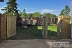 Edmonton Fence Triple gate open