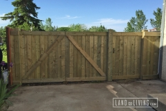 Edmonton Fence Triple gate