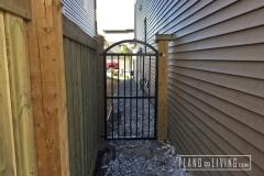 Edmonton Fence black aluminum gate