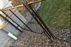 Edmonton Fence black chain link fence gate