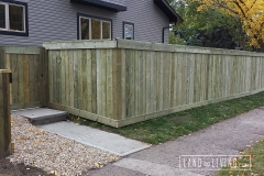 Edmonton Fence five feet tall pressrue treated fence 3