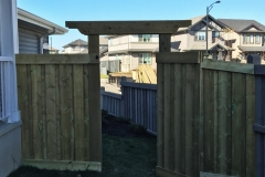 Edmonton Fence gate arbor header trelis 2