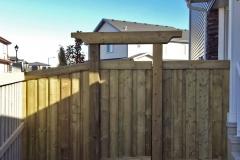 Edmonton Fence gate arbor header trelis 3