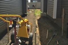 Edmonton Fence post holes Minimal Damage to Landscaping 2