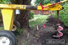 Edmonton Fence post holes Minimal Damage to Landscaping
