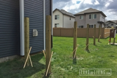 Edmonton Fence post installed 2