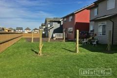 Edmonton Fence post installed