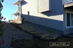 Edmonton landscaping pressure treated wood stairs