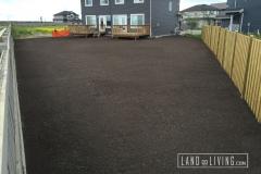Landco Living Edmonton landscape complete final grade