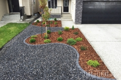 Landco Living Edmonton landscape design bark mulch limestone