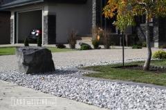 Landco Living Edmonton landscape design front drive way