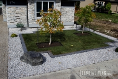 Landco Living Edmonton landscape design sod and limestone