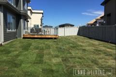 Landco Living Edmonton landscaping design Tbar sod 2