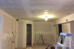 Basement drywall, tape and mudding