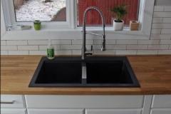 Edmonton Home Renovaton Black kitchen sink butcher block - Copy